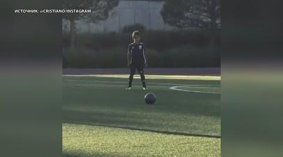 Весь в отца: шестилетний сын Криштиану Роналду забил эффектный гол