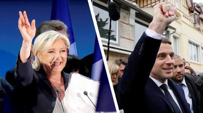 «Фронт» против глобалиста: Ле Пен и Макрон лидируют на выборах президента Франции