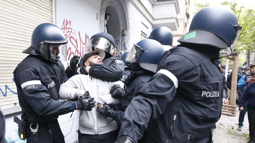 В Берлине произошли столкновения леворадикалов с полицией