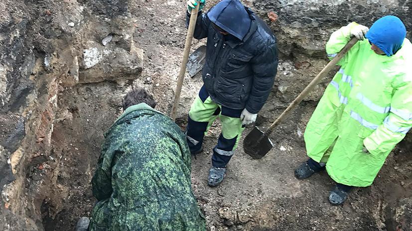 Остатки Белокаменной: в центре Москвы обнаружен фундамент церкви XVII века