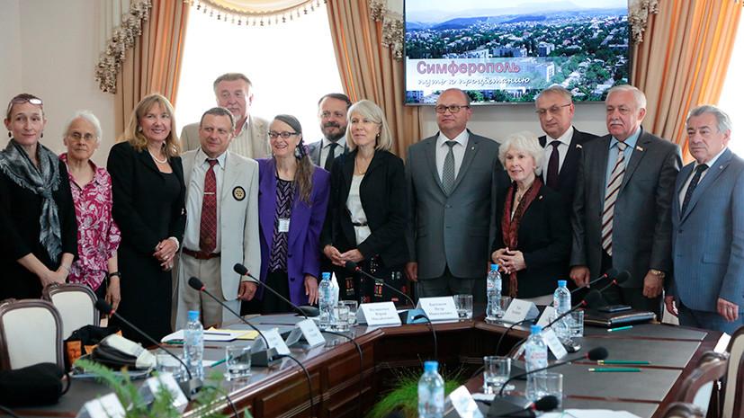 Президент Центра гражданских инициатив США встретилась с властями Симферополя