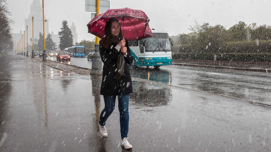 Синоптик прогнозирует снегопады в конце мая в Москве