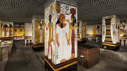 Фрагмент научной 3D реконструкции погребальной камеры гробницы Нефертари