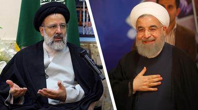 Эбрахим Раиси (слева) и Хасан Роухани
