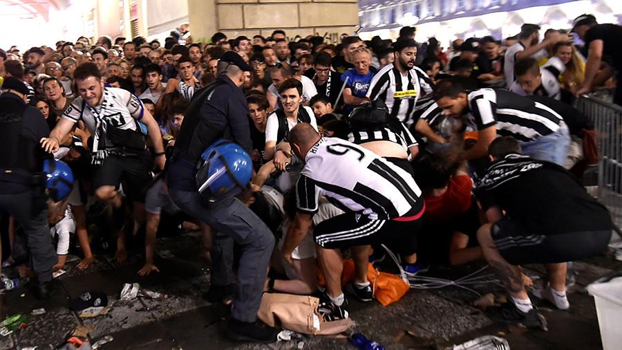 За гранью фола: давка в Турине стала результатом розыгрыша «террористов»