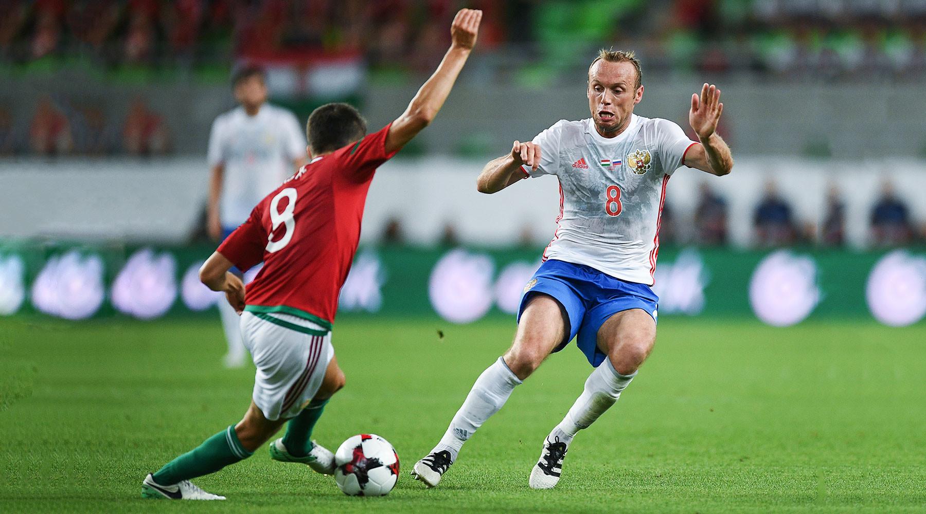 Россия дважды забила Венгрии в товарищеском матче и потеряла Зобнина