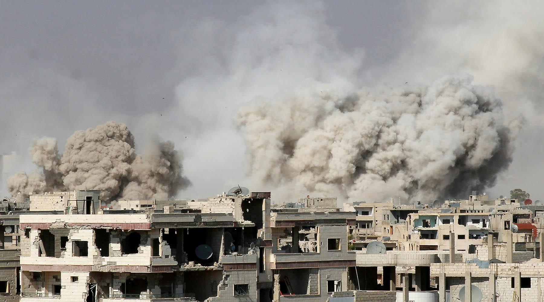 Коалиция во главе с США нанесла удар по проправительственным силам в Сирии