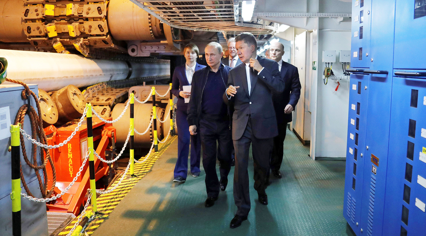 От первого лица: Путин дал старт стыковке «Турецкого потока»