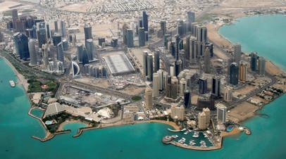 Вид на Доху с высоты птичьего полёта