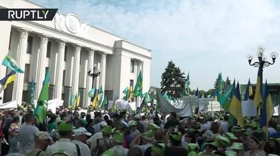 В Киеве прошёл многотысячный протест против земельной реформы