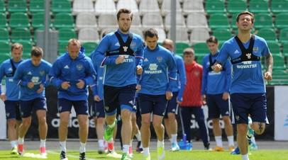 Футболисты сборной России готовятся к Кубку конфедераций