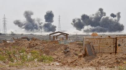 Удары Воздушно-космических сил России по позициям террористов