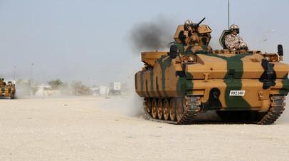 Турецкие военнослужащие направляются на базу в Дохе, Катар