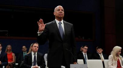 Бывший глава Министерства внутренней безопасности США Джей Джонсон на слушаниях конгресса.