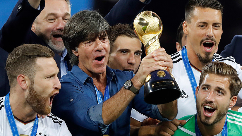«Вы замечательные хозяева, спасибо»: тренер победителей Кубка конфедераций поблагодарил Россию за радушный приём
