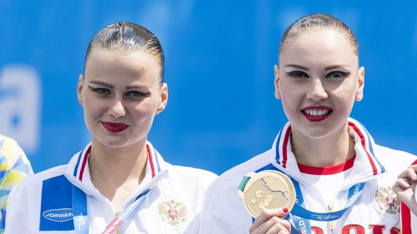 Победа на двоих: российские синхронистки завоевали очередное золото на ЧМ по водным видам спорта
