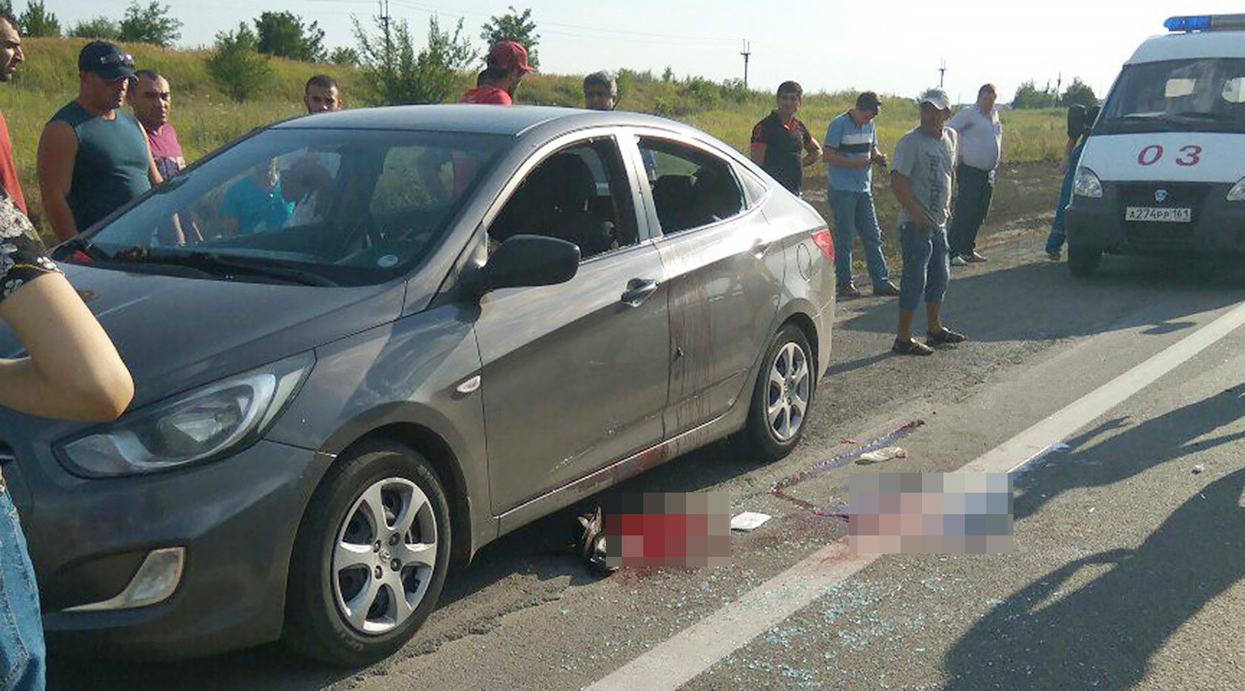 Убийство на трассе: в Ростовской области полицейский расстрелял бывшую жену и её отца