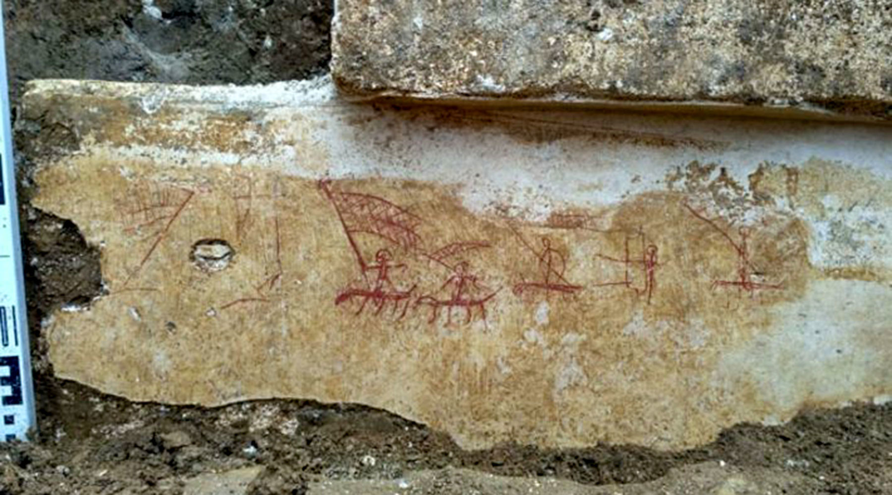Археологи нашли в Крыму уникальные рисунки III-V веков нашей эры