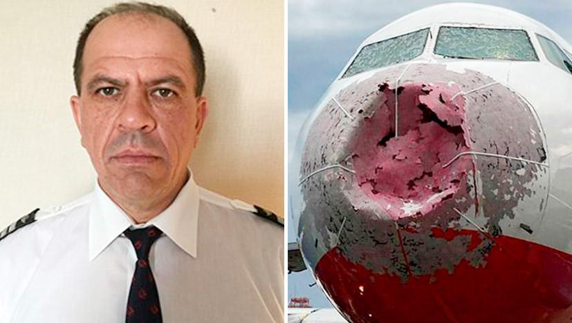 Украинские радикалы травят посадившего побитый градом самолёт лётчика Акопова