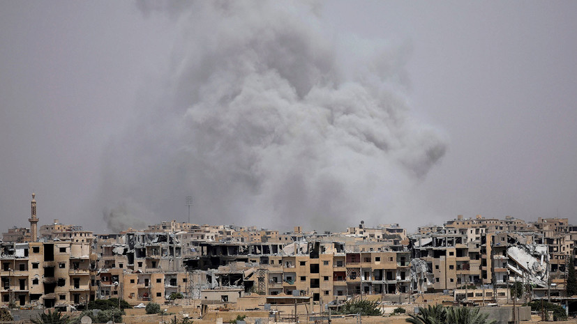 авиация коалиции разбомбила госпиталь в Ракке »