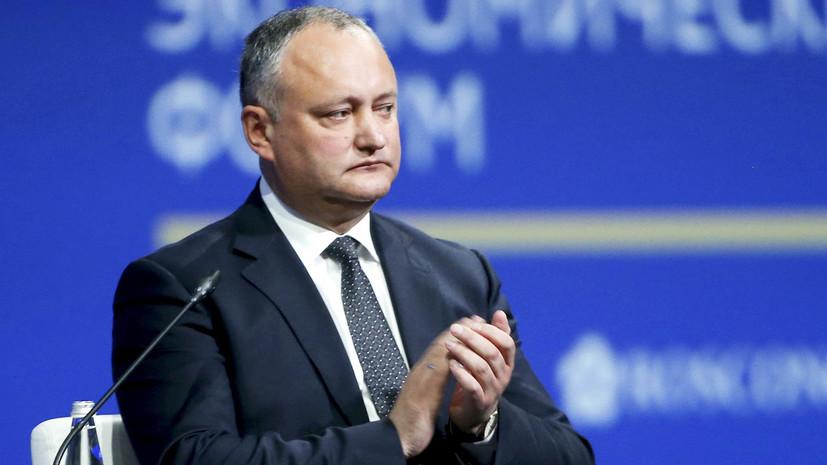 Президента Молдавии хотят привлечь к суду за отказ от финансирования США