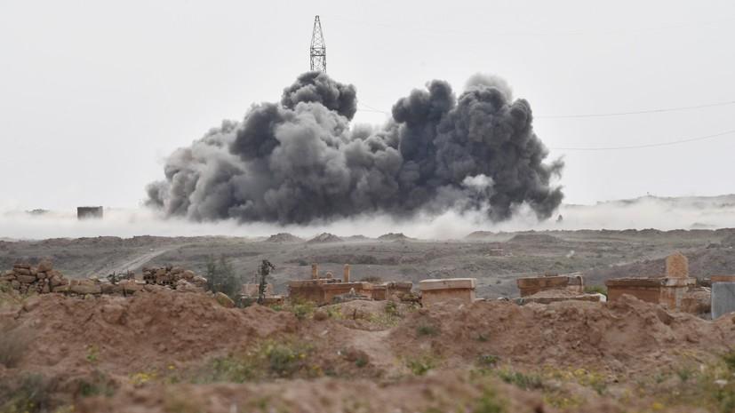 Российская авиация уничтожила колонну боевиков ИГ