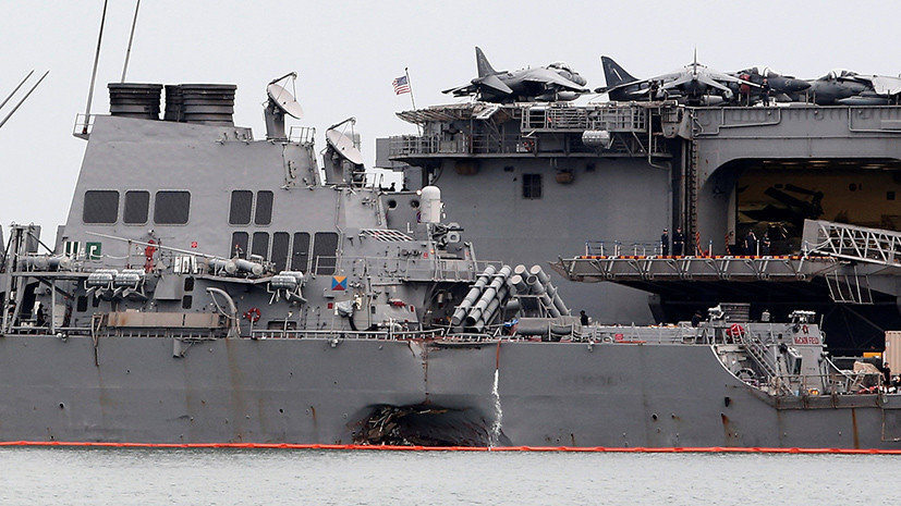 «Джон Маккейн» и хакеры: в ВМС США рассмотрят версию кибервмешательства после инцидента с эсминцем