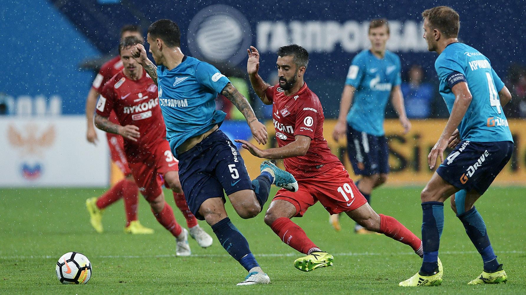 Футбол россии зенит спартак обзор матча