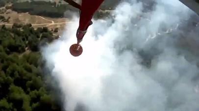Авиация МЧС устранила угрозу распространения природного пожара в Ростовской области