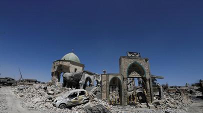Развалины Соборной мечети ан-Нури в Мосуле.
