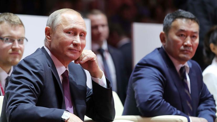 президентам России и Монголии предложили провести поединок по самбо»