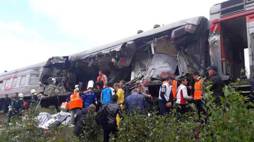 По вине водителя: основные версии ДТП с участием грузовика и пассажирского поезда в ХМАО