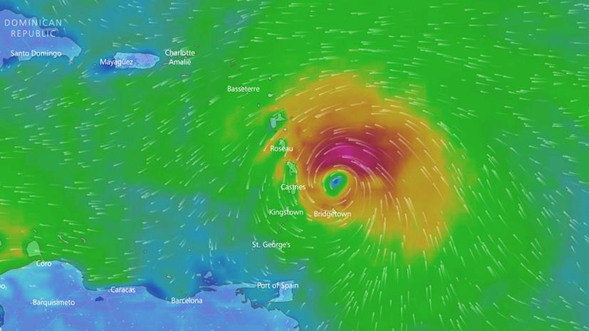 Шторм «Мария» усилился до урагана и движется к Карибам