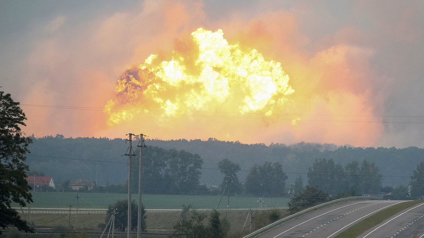 более 28 тысяч человек эвакуированы после взрывов на складе боеприпасов под Винницей»