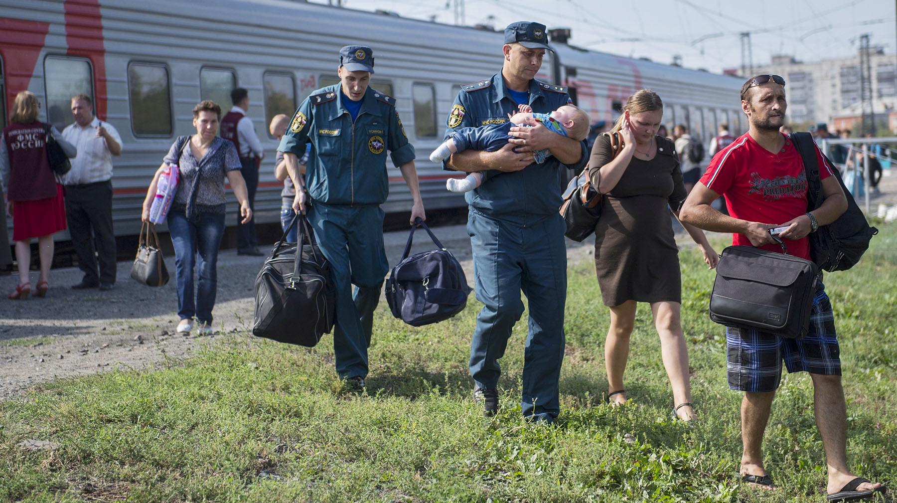 Беженцы с украины картинка