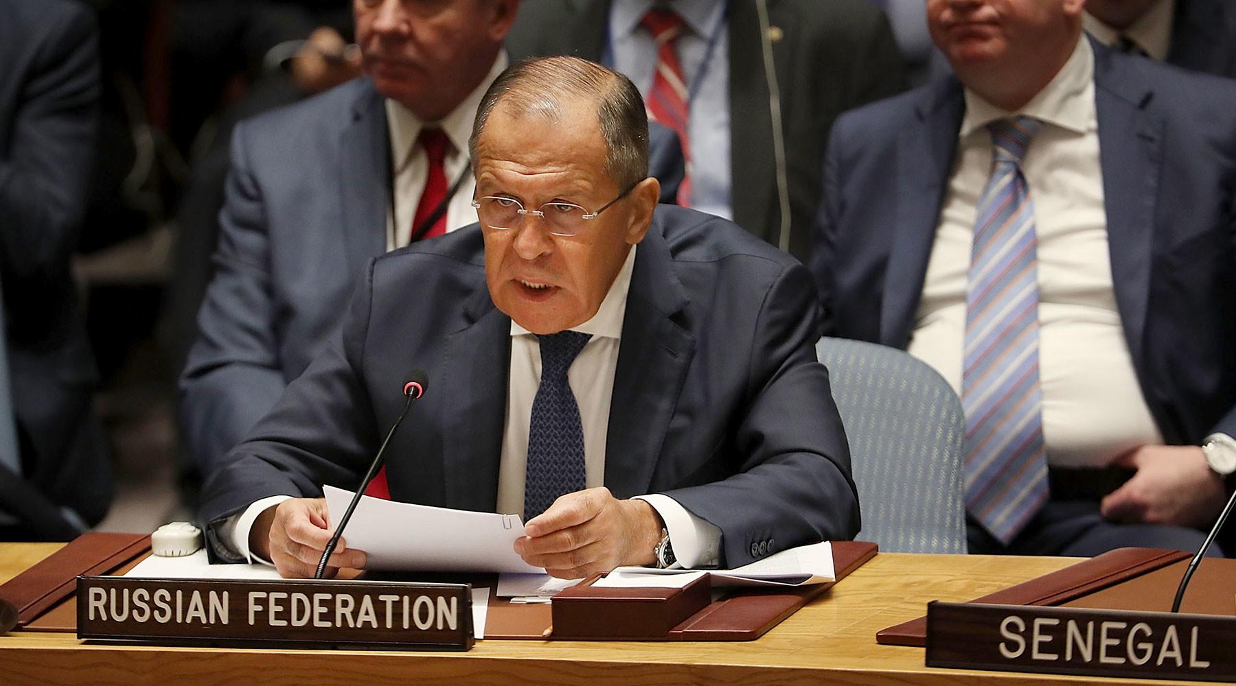 Нашли выход: Порошенко и Пенс покинули зал перед речью Лаврова в Совбезе ООН
