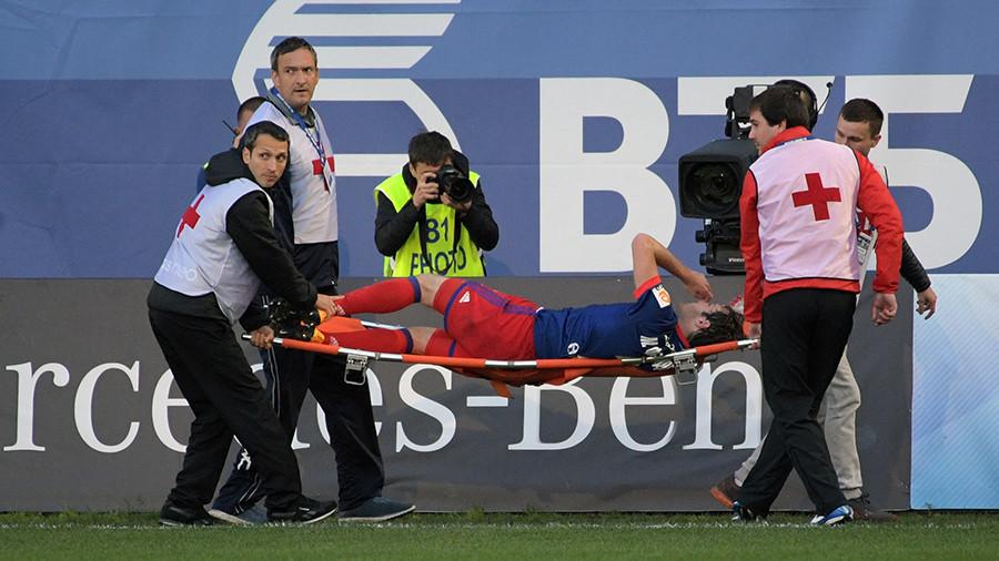 Игрок ЦСКА Фернандес получил сотрясение мозга вдерби с«Динамо»