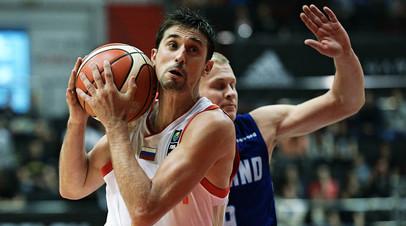 Защитник сборной России по баскетболу Алексей Швед