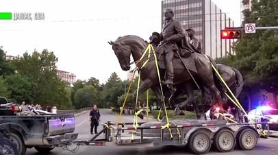 В Далласе демонтировали памятник герою конфедератов генералу Ли