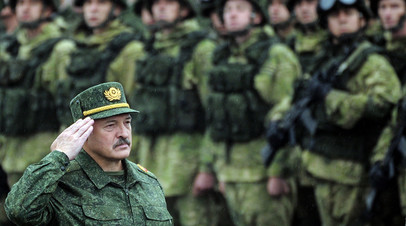 Александр Лукашенко на совместных учениях России и Белоруссии «Запад-2017»