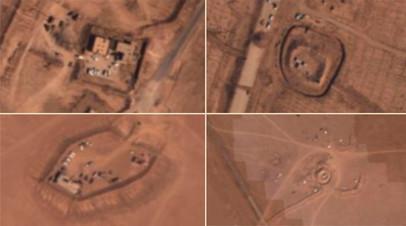 Кадры аэрофотосъёмки районов дислокации ИГ севернее Дейр эз-Зора