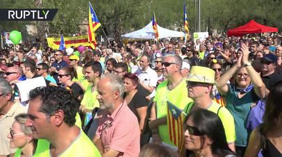 В Университете Барселоны прошла акция в поддержку референдума о независимости Каталонии