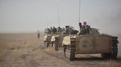 Иракские военные недалеко от Киркука, Ирак