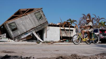 Разрушения после урагана «Ирма» в штате Флорида