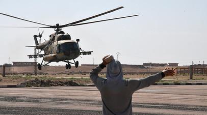 Вертолёт Ми-8 в аэропорту Дейр эз-Зора