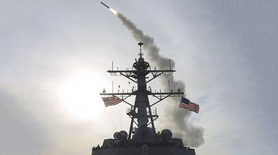 ВМС США наносят ракетный удар по сирийской авиабазе