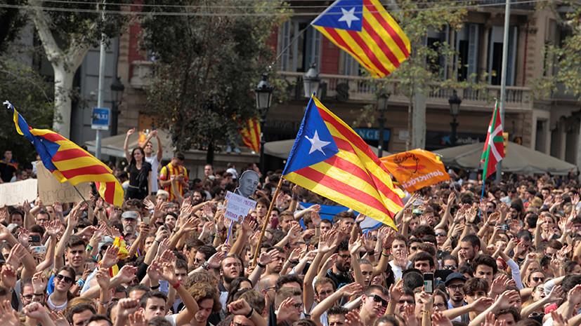 Заявка на выход: власти Каталонии объявили окончательные результаты референдума о независимости