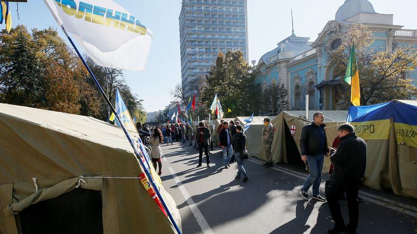 Украинский спецназ начал штурм палаточного городка у стен Рады