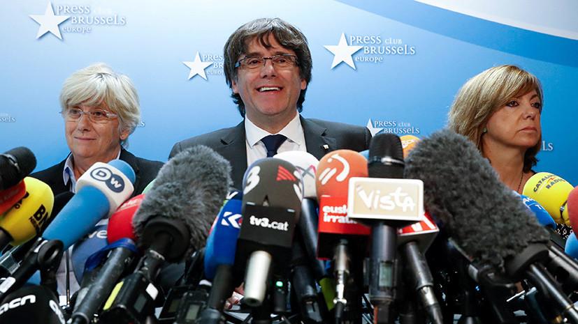 «Это ещё не конец эпопеи»: как может развиваться ситуация в Каталонии после заявлений Пучдемона в Брюсселе