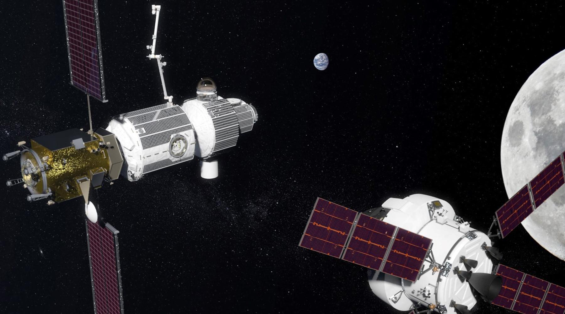 Роскосмос начал переговоры с NASA об участии в проекте окололунной станции